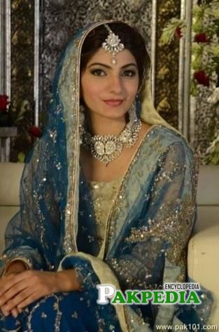 Mariam Ansari while shooting for a bridal sequence