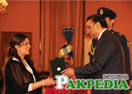 Namira Salim with Asif ali Zardari
