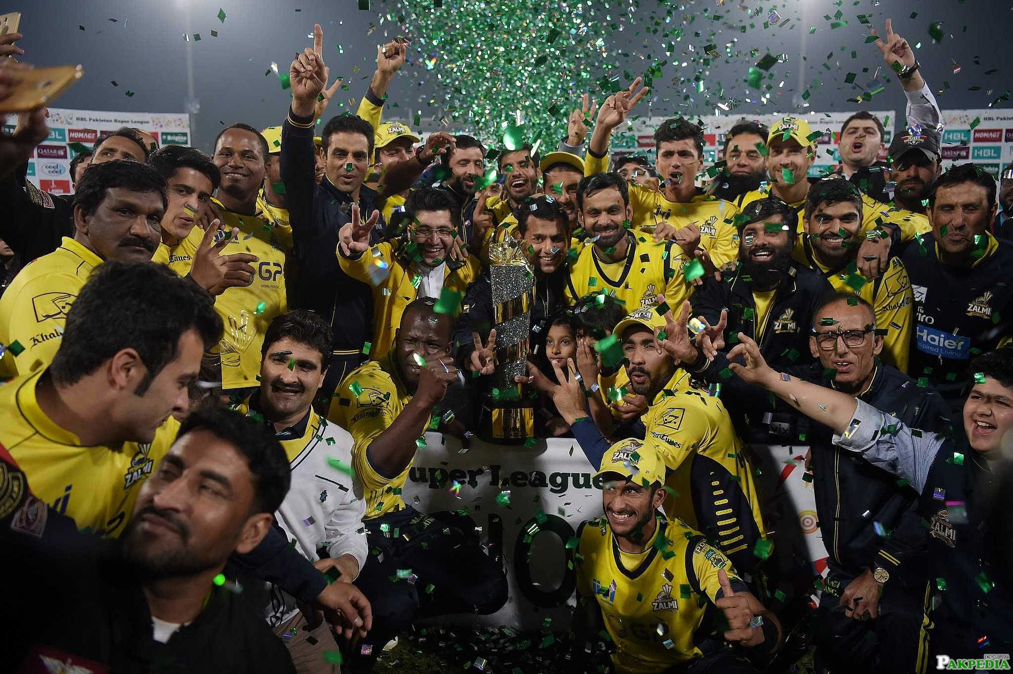 Peshawar Zalmi 2017 PSL Trophy