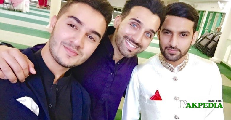 Zaid with Sham Idress and Shahveer Jafry