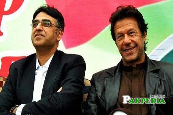 Asad Umar and Imran Khan