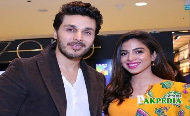 Sonya hussain with her costar Ahsan khan