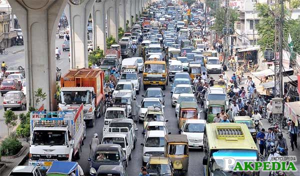 Rawalpindi Traffic Jam