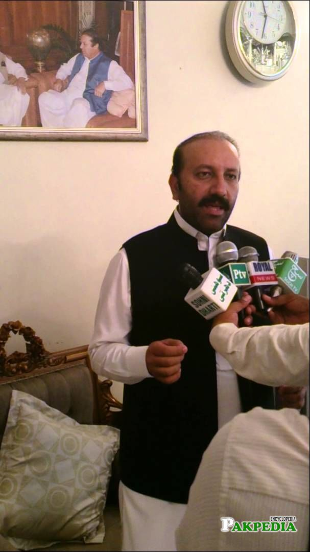 While Talking with Media