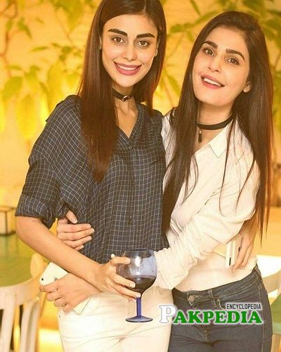Sadia with Sadaf Kanwal at her birthday