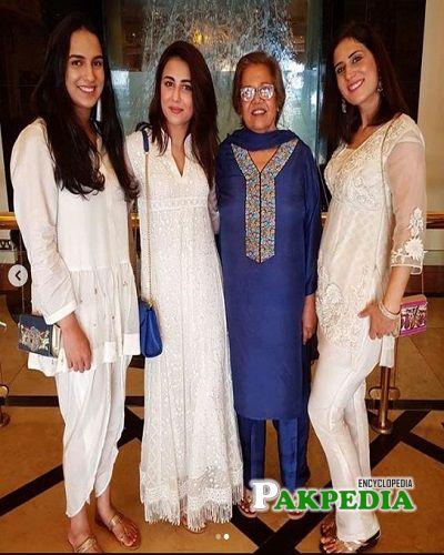 Ushna Shah Family
