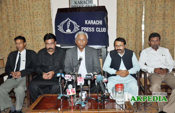 In a press conference at karachi press club