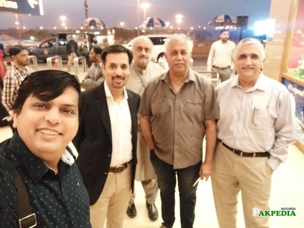 Another Group Photo With PSP Leader Syed Mustafa Kamal