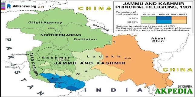 Map of Azad Kashmir