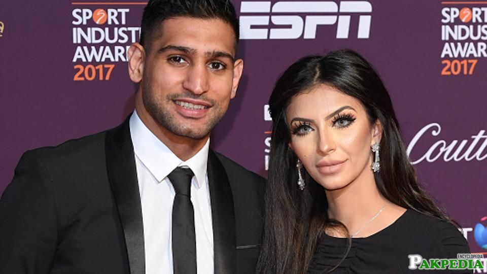 Amir Khan with His Wife