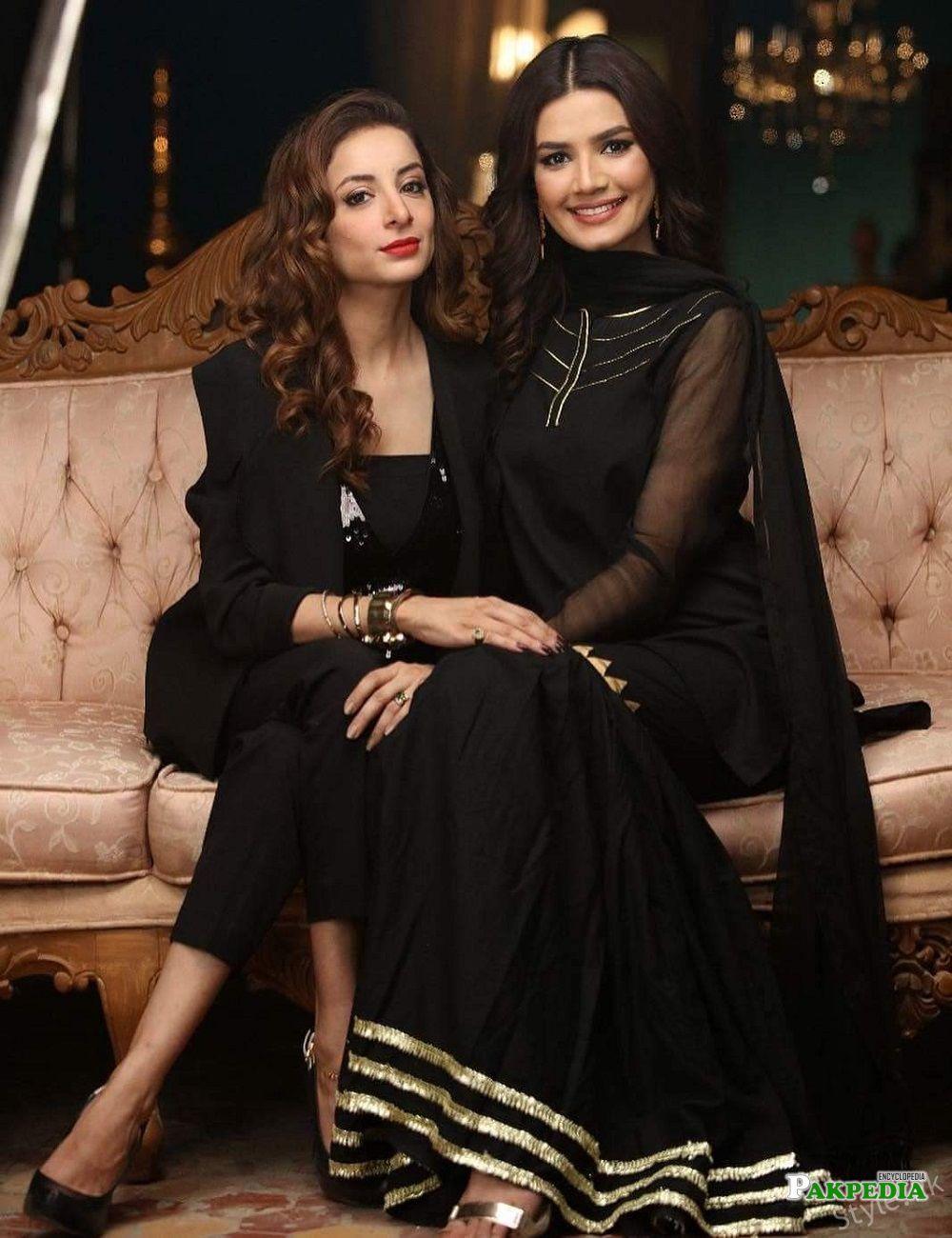 Kiran haq on set of her drama Naulakha