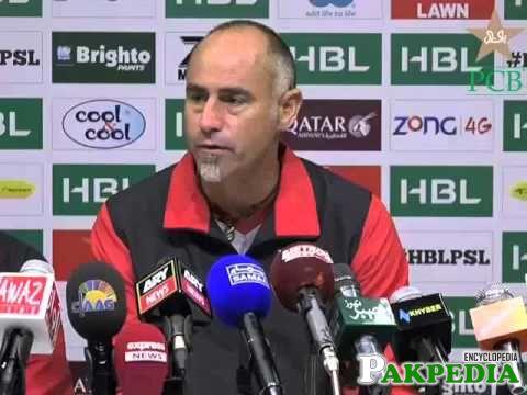 Paddy Upton Coach of Lahore Qalandars