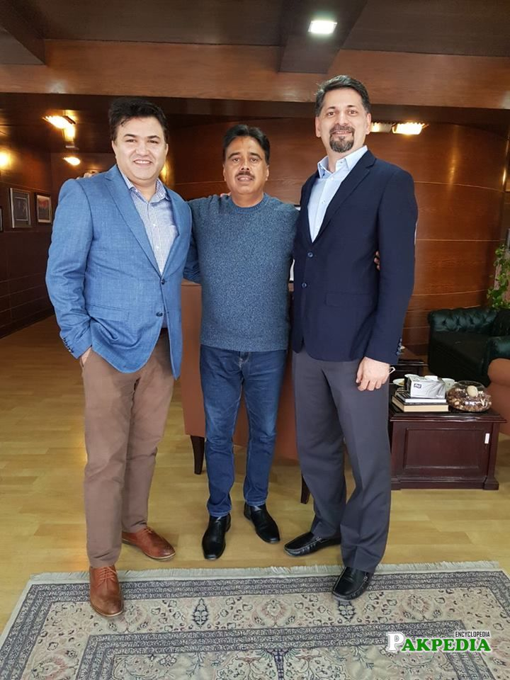 Chairman P@SHA Barkan Saeed and Secretary General P@SHA Shehryar Hydri met Salim Ghauri CEO Netsol Technologies
