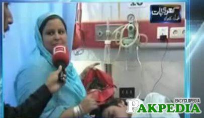 Screengrab of the video shot in Ittefaq Hospital Lahore