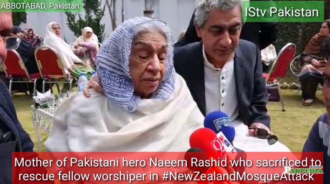 Mother of Naeem Rashid