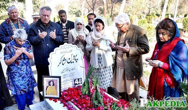 Parveen Shakir's grave