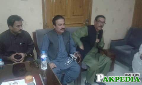 Rehmat Saleh Baloch sitting in Center