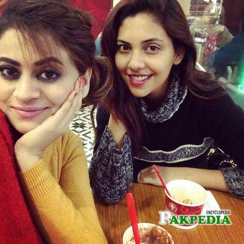 Sunita with her cousion Benita