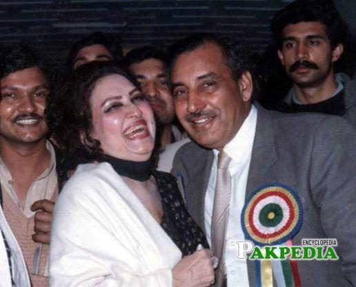 With Malika Taranum Noor Jahan