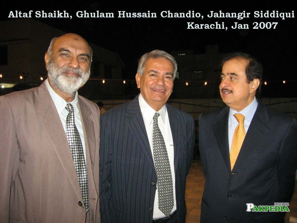 His father Jahangir Siddiqui with Altaf shaikh and Ghulam hussain
