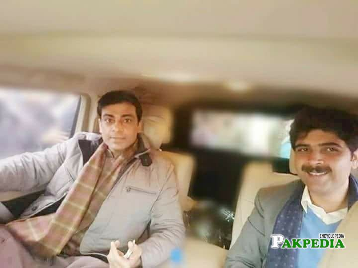 Haider Sultan with Hamza Shehbaz