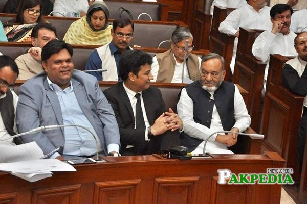 Muhammad Mansha Ullah during his session in Punjab Assembly