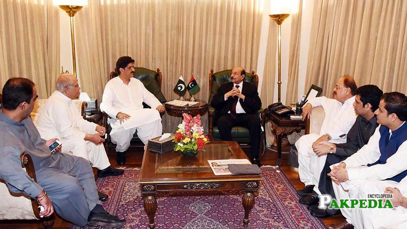 Sindh Chief Minister Syed Qaim Ali Shah submitted his resignation to Governor Dr Ishrat-ul-Ebad Khan at Governor House