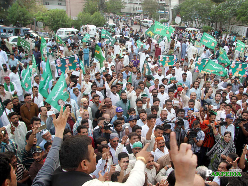 A Group Photo of PML-N Supporters