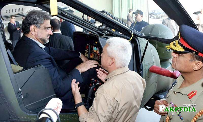 Pakistan's first PM to fly military helicopter