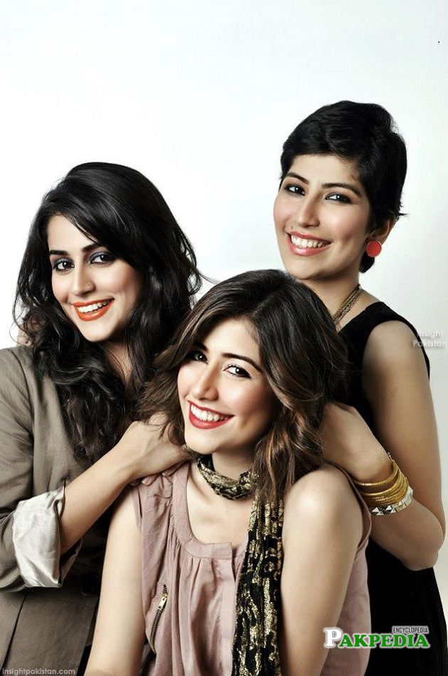 Syra Yousaf with her sisters