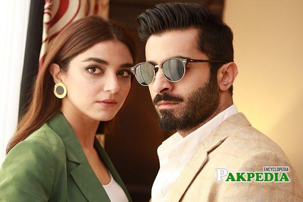Sheheryar Munawar with Maya Ali during photoshoot