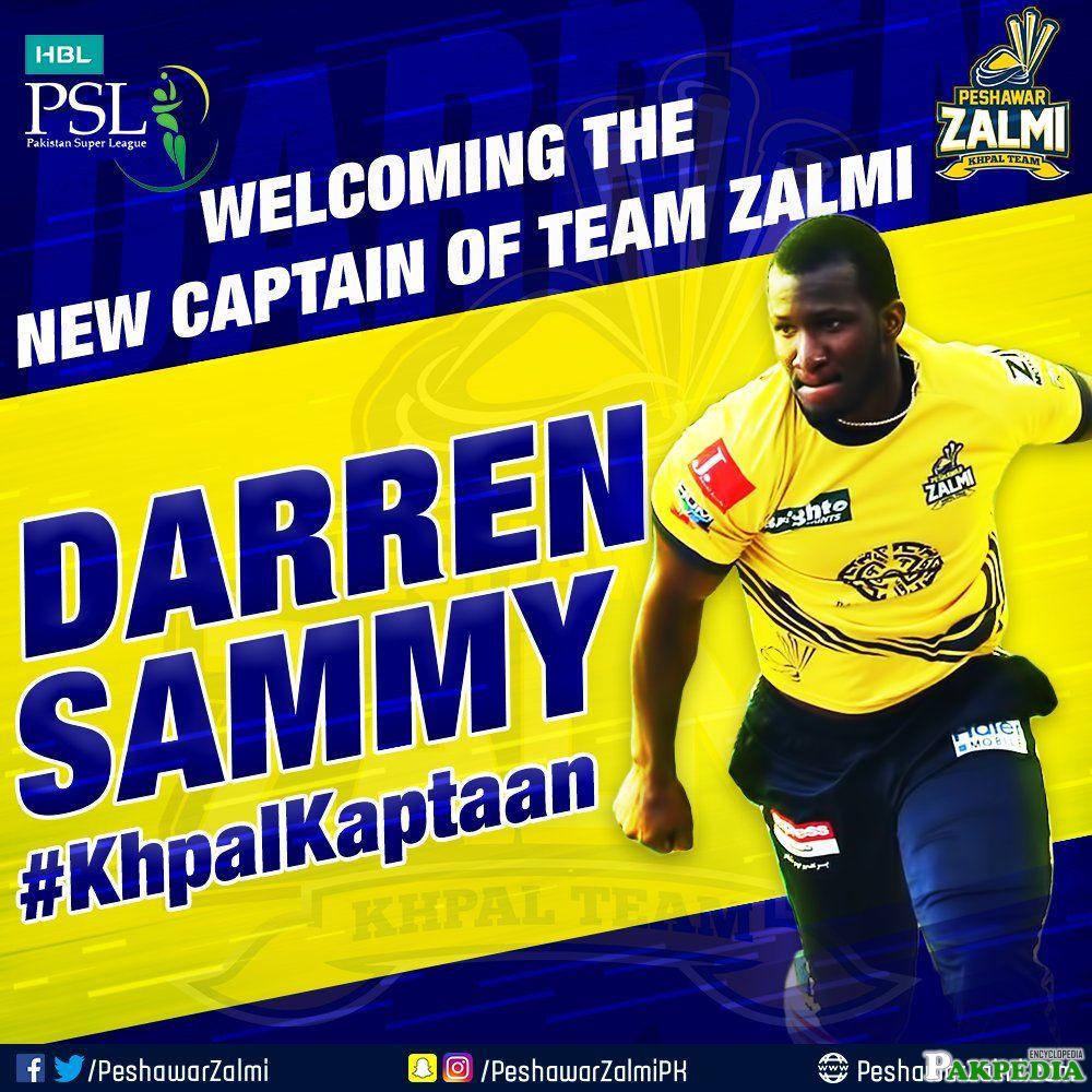 Peshawar Zalmi Team Player Daren Sammi