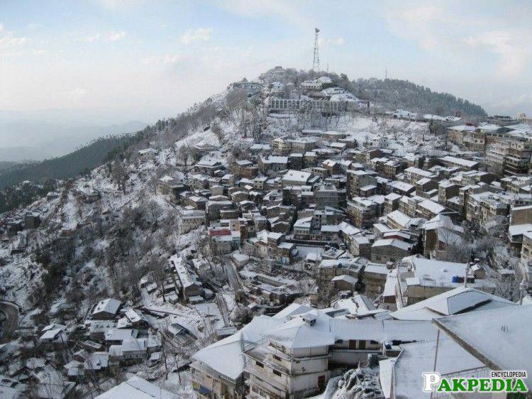 murree hills in winter