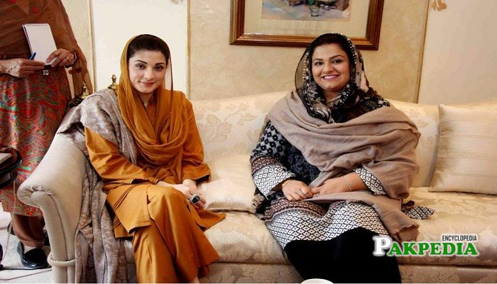 Zeb Jaffar with Maryam Safdar