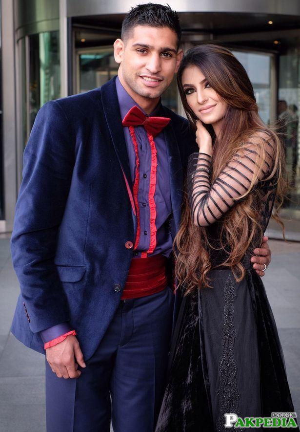 Beautiful faryal with Amir khan
