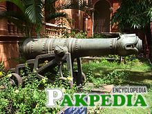 Cannon used by Tipu Sultan's forces at the battle of Srirangapatna 1799