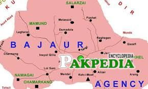 Map of Bajaur Agency