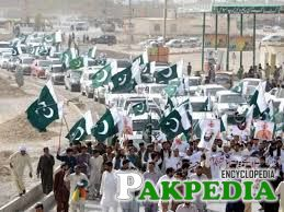 Protesters stage a rally in Chaman against Indian premier's remarks on Balochistan.