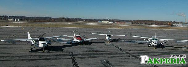 Aviation Academy with aeroplane