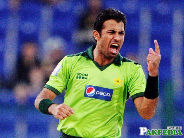 Wahab Riaz in ODI Match