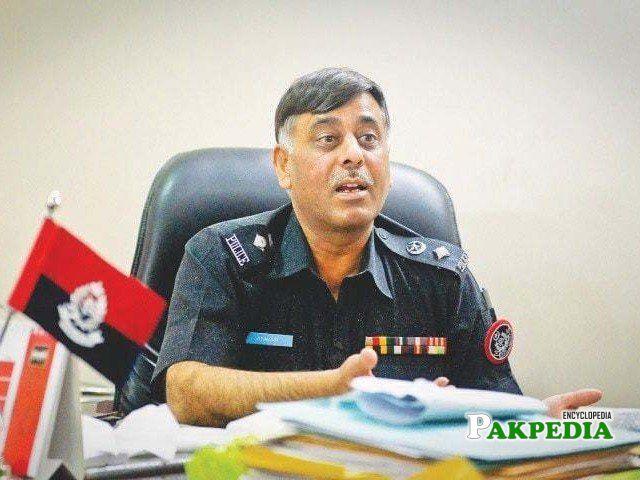 SSP Rao anwar in his office