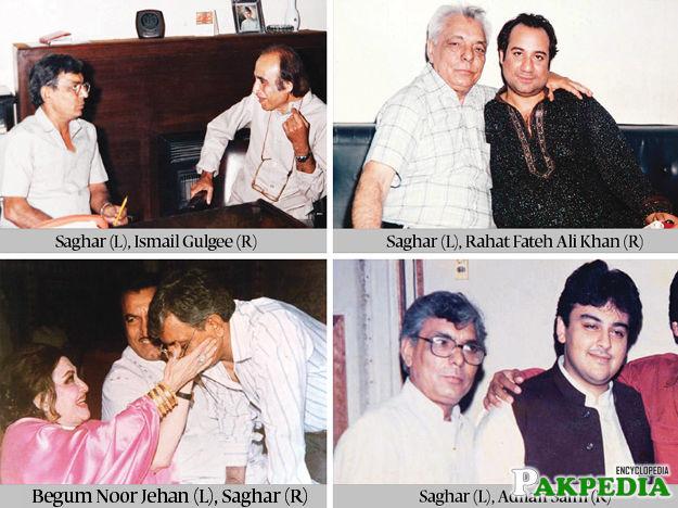 Riaz ur Rehman Saghar with some Great Legends