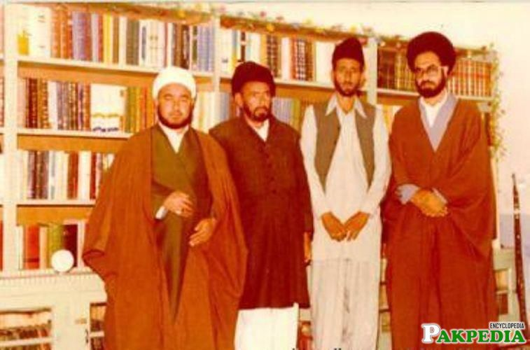 Allama with his friends in Najaf