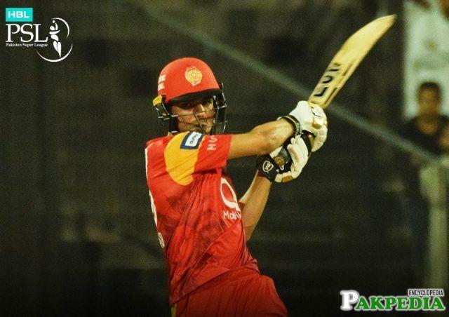 Shadab Khan Batting Action
