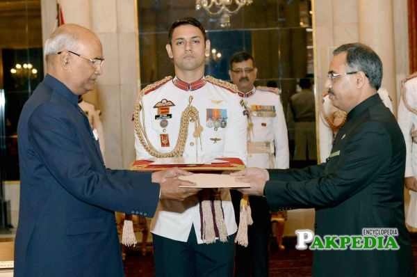 While presenting his credentials to the president