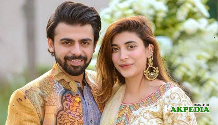 Farhan with his wife Urwa Hussain