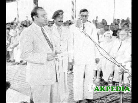 While addressing to public