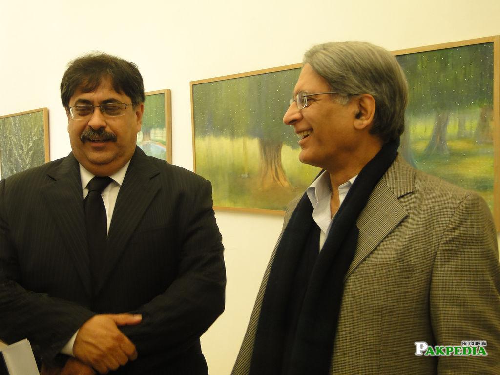 Athar Minallah with Aitazaz Ahsan
