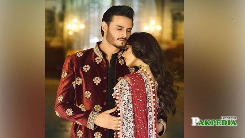 Osman Khalid and Maya Ali during a photoshoot