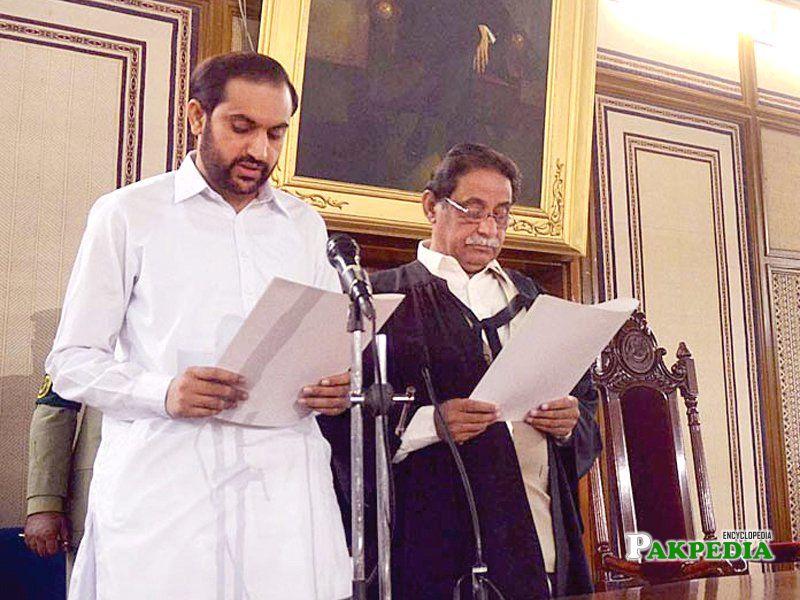 Mir Jan While Taking Oath